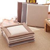 促銷款坐墊 方形棉麻餐桌椅墊辦公室學生坐墊教室凳子椅墊子加厚四季防滑坐墊