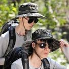 遮陽帽帽子男夏季可摺疊迷彩軍帽遮陽迷彩帽男士戶外釣魚帽防曬漁夫帽 快速出貨