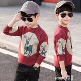童裝男童男孩毛衣套頭兒童2020新款春秋裝針織衫秋冬款韓版洋氣潮  (pink Q時尚女裝)