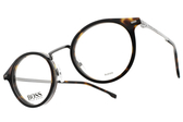 HUGO BOSS 光學眼鏡 HB1056 086 (深琥珀-槍) 男士精品簡約款 # 金橘眼鏡