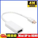 4K Mini display(公)轉HDMI(母)轉接線Mini DP to HDMI