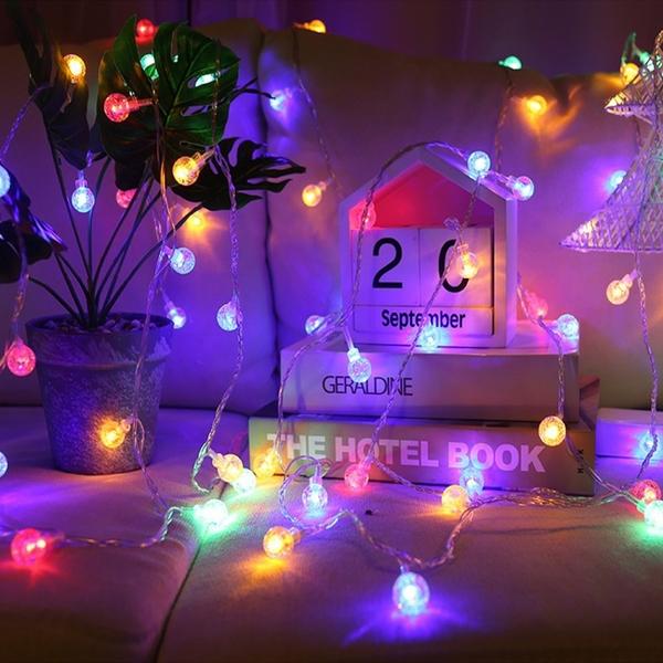【BlueCat】LED氣泡球小燈串 (3米20燈) 室內裝飾 拍照道具 拍攝背景