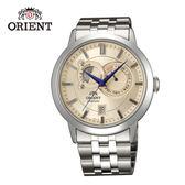 ORIENT 東方錶 SUN&MOON系列 日月相錶 鋼帶款 FET0P002W 銀白- 41.5 mm