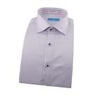 【南紡購物中心】【襯衫工房】長袖襯衫-粉紫色細條紋