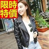 女款皮衣夾克-走秀款重金屬風完美比例時髦女機車外套61z11【巴黎精品】