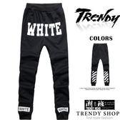 『潮段班』【SD030232】WHITE暗黑風格休閒長棉褲