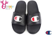 Champion拖鞋 現貨 大Logo 運動拖鞋 情侶拖鞋C9960#黑色◆OSOME奧森鞋業