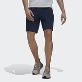 ADIDAS 短褲 WI ID 深藍 腰帶 扣環 滑面 拉鍊 反光條 男 (布魯克林) GU1746