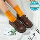 娃娃鞋 森女系小皮鞋日系文藝復古厚底可愛娃娃鞋原宿學院風學生大頭鞋子【小艾新品】