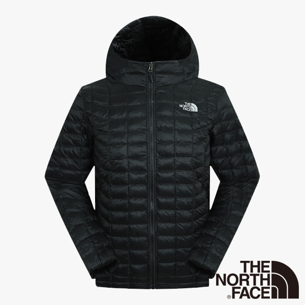 The North Face 男  ThermoBall暖魔球保暖連帽外套 黑 NF0A3666JK3【GO WILD】
