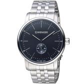 瑞士WENGER Urban 都會系列 經典小秒針紳士腕錶 01.1741.105