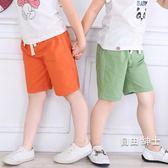 兒童棉麻短褲夏裝童裝寶寶中褲女童男童褲子五分褲熱海灘褲打底褲(七夕禮物)