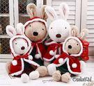 【發現。好貨】日本正品 le sucre 砂糖兔 法國兔娃娃 (聖誕披風裙子45公分款)