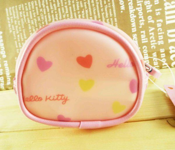 【震撼精品百貨】Hello Kitty 凱蒂貓-橢圓零錢包-粉愛心