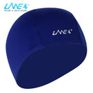 LANE4羚活POLYESTER舒適彈性泳帽 - 深藍印白