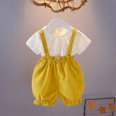 女童裝夏裝0-1-2-3歲女寶寶背帶短褲兩件套裝女嬰兒夏天衣服夏季 森活雜貨