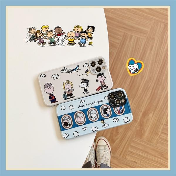 史努比航班 適用 iPhone12Pro 11 Max Mini Xr X Xs 7 8 plus 蘋果手機殼
