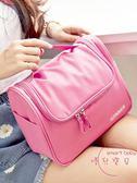 聖誕交換禮物 大容量大號化妝包手提洗漱包便攜旅行化妝箱簡約化妝品收納包小號