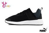 PUMA Insurge Mesh Jr 慢跑鞋 成人女款 大童 透氣 襪套式 運動鞋 J9517#黑色◆OSOME奧森鞋業
