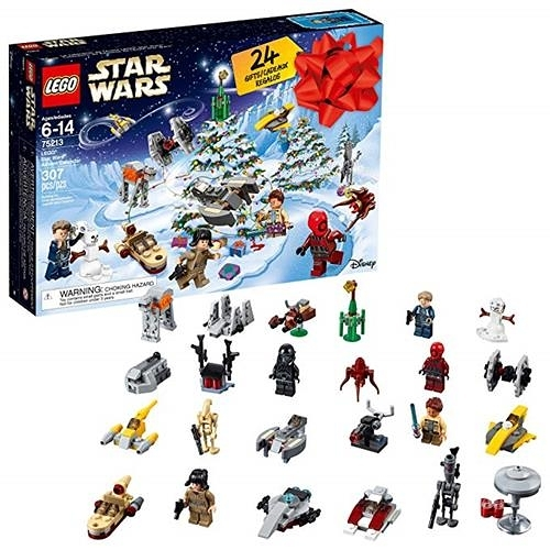 LEGO 樂高 75213 Star Wars TM Advent Calendar Christmas Countdown Calendar for Kids (307 Pieces), Multi-Color