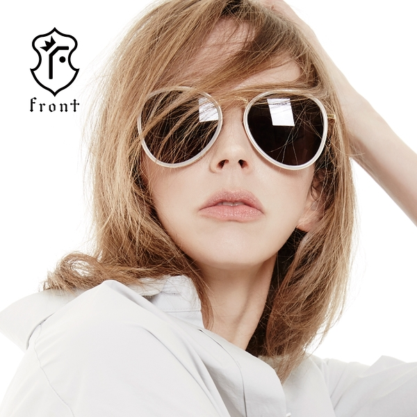 【Front 太陽眼鏡】Hey jude-八色可挑選#時尚造型圓框太陽眼鏡/墨鏡