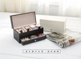 手錶盒-索美新款皮質4座手錶收納盒男士商務抽屜式四座皮革手錶盒 東京衣秀