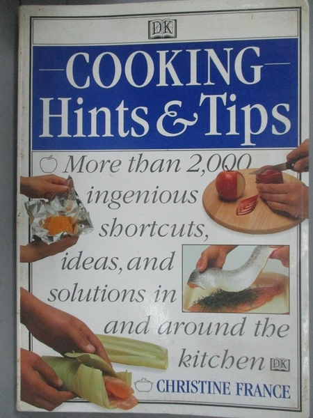 【書寶二手書T6/餐飲_XFG】Cooking Hints & Tips_Christine France