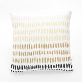 漸層平織抱枕套45x45cm 黃