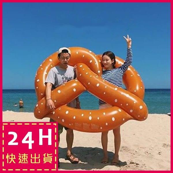 現貨★梨卡 - 甜美超大蝴蝶結香菇圈浮圈浮床游泳圈救生圈-另售獨角獸白天鵝彩虹馬浮板M080