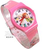 Disney 迪士尼 時尚卡通手錶 冰雪奇緣 艾莎公主 安娜公主 兒童手錶 數字 女錶 粉紅色 D冰雪大P4
