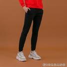 【GIORDANO】女裝雙層空氣布束口褲 - 09 標誌黑