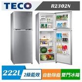 TECO 東元 R2302N 222公升雙門冰箱