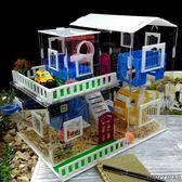 倉鼠籠- 亞克力透明城堡荷蘭豬籠金絲熊倉鼠豪華別墅單層雙層 jy【中秋節禮物八折搶購】
