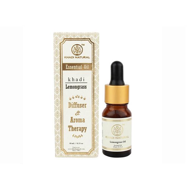 印度 Khadi 檸檬草/檸檬香茅精油 10ml 新包裝 Herbal Lemongrass Essential Oil【PQ 美妝】