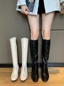不過膝長靴女2020夏季新款韓版網紅百搭粗跟長筒靴子潮時尚機車靴