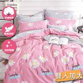 百分百純棉雙人加大三件式床包+枕套組 #7