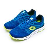 LIKA夢 LOTTO 專業輕量風動慢跑鞋 SUPER LITE系列 藍螢綠 0526 男