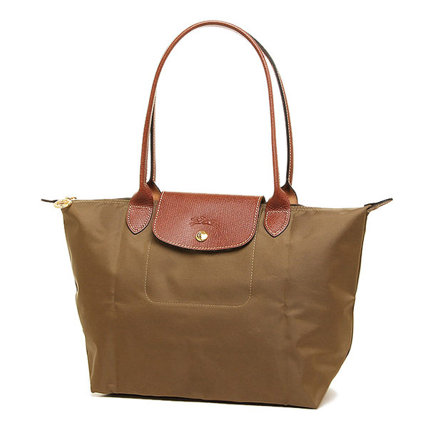 Longchamp 法國經典摺疊水餃包(S長把/軍綠色)