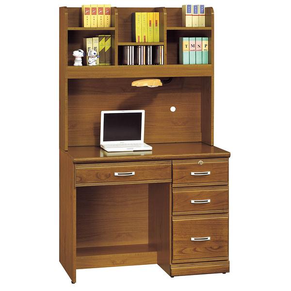 【森可家居】樟木實木3.2尺書桌組 8SB286-1 多抽屜型 學生 學習