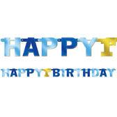 1歲生日字串-藍