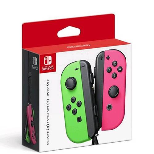【現貨】任天堂 漆彈 Switch主機 NS Joy-Con 左右手控制器 粉綠色 手把 台灣公司貨