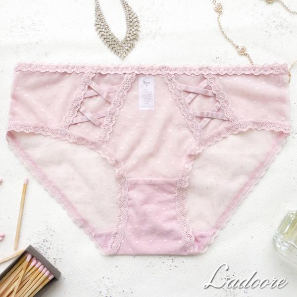 內褲 Ladoore 永遠的快樂 法式蕾絲精品小褲 (粉)