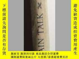 二手書博民逛書店THE罕見ART OF PLAIN TALK(大32開硬精裝,4