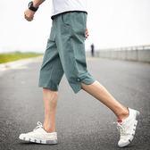 短褲男夏天五分褲寬鬆運動褲夏季休閒褲子韓版薄款沙灘男士七分褲