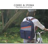 CORRE【CG71076】帆布印刷條紋後背包