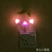 感應燈 LED小夜燈光控燈創意節能燈感應燈夜光燈起夜燈床頭燈 育心館
