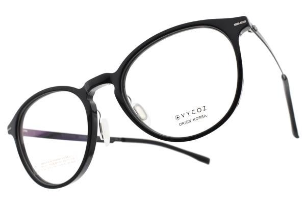 VYCOZ光學眼鏡 TOSS BLK (黑) 文藝小臉貓眼款 薄鋼眼鏡 # 金橘眼鏡