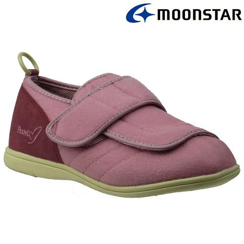 日本【MOONSTAR】Pastel 403健康照護介護鞋 - 粉(4E超寬楦)