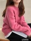 素面寬鬆圓領柔軟質感毛衣 Z11272   【全館免運】