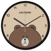 Line Friends 熊大個性掃秒掛鐘【愛買】